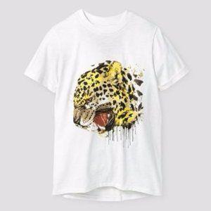 New Cat & Jack Boy's Roaring Leopard T-Shirt sz S